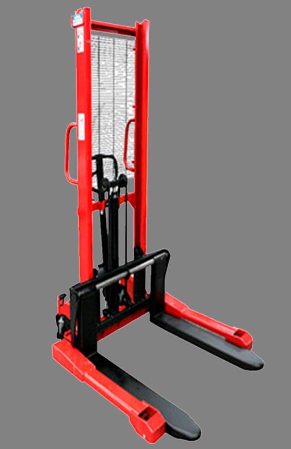 Descripción: Apilador tipo w Marca New Line Hidráulico manual Capacidad maxima 1.5 Toneladas estructura de acero de grueso calibre, dimensión