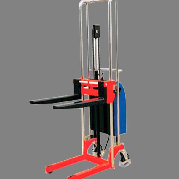 Descripción: Mini elevador electrico Marca New Hidráulico manual Line Capacidad maxima 400 kg. estructura de acero de grueso calibre, dimensión de horquillas