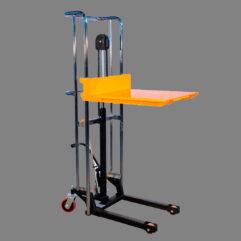 Descripción: Mini elevador eléctrico Marca New Hidráulico manual Line Capacidad maxima 400 kg. estructura de acero de grueso calibre, dimensión